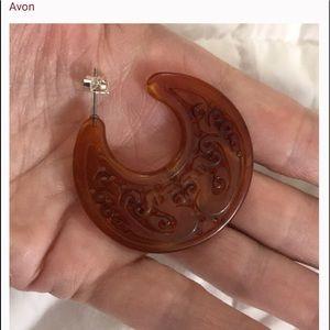 Avon Jewelry - Avon Motif cut out hoops